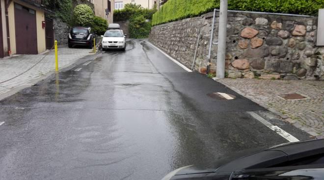 breccia perdita di acqua villa giovio strada laterale