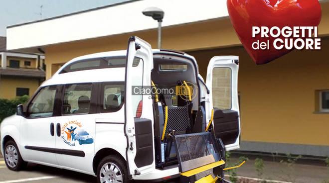"""Inaugurati a Como i """"Progetti del Cuore"""".  Alla Croce Rossa  sarà dato un mezzo attrezzato per il trasporto delle persone diversamente abili"""