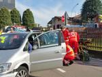 incidente via pitagora cantù scontro tra auto soccorsi