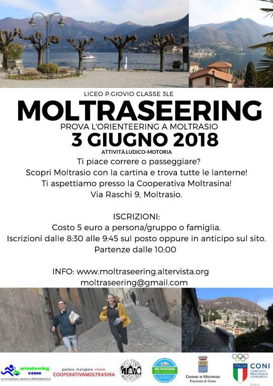 locandina moltraseering 2018 gara di orienteering