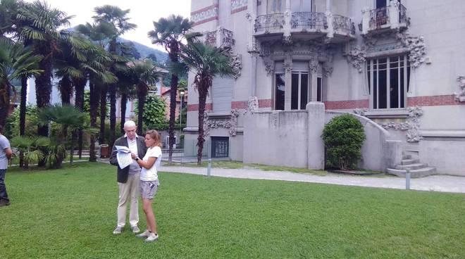davide mengacci a cernobbio incontro con sindaco a villa bernasconi