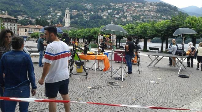 ricette all'italiana registrazione del programma sulla riva di cernobbio con davide mengacci