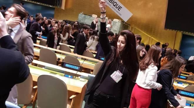 studenti del Gallio come relatori all'Onu di New York alessandro e nicla
