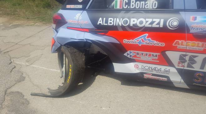 auto danneggiata kevin gilardoni rally di roma capitale 2018