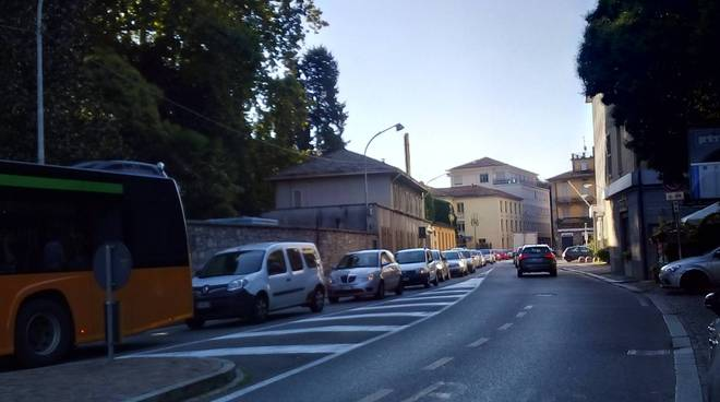 code como via borgovico per chiusura di via per Cernobbio
