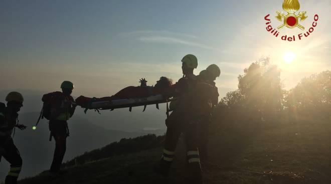 pompieri recuperano la turista francese perda durante escursione monti di lanzo sighignola