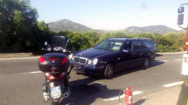 scooter clooney in sardegna incidente olbia