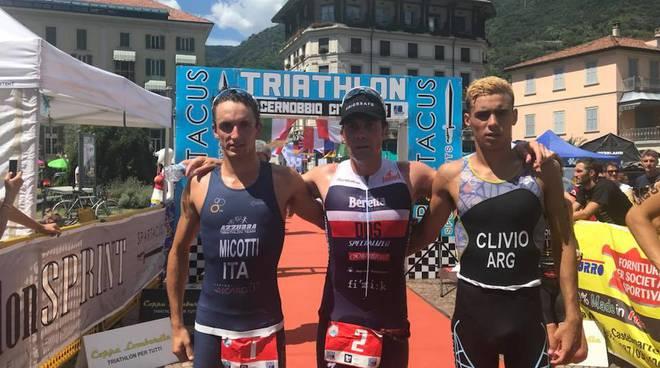 triathlon di cernobbio 2018, i vincitori e il podio