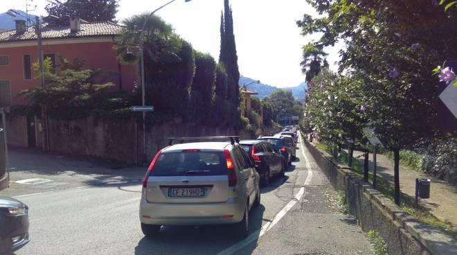 via bellinzona caos e coda per lavori in via bixio e chiusura strada