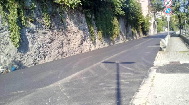 via bixio asfaltatura strada