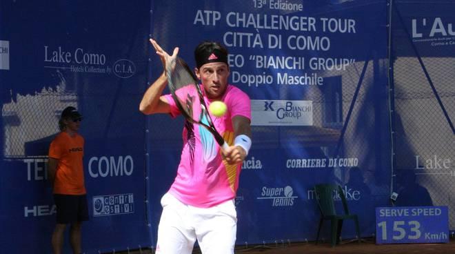 challenger di tennis como, arnaboldi eliminato da Marcora i due in azione