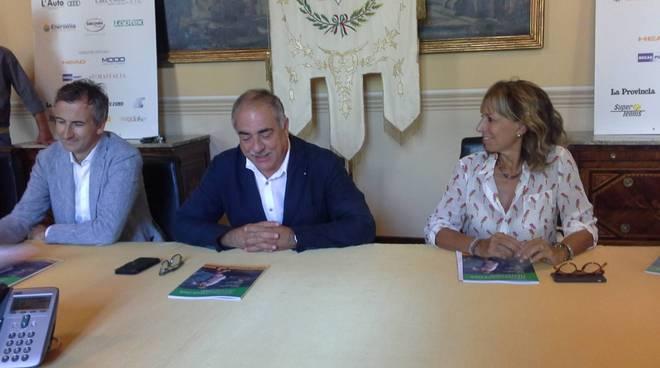 tennis como presentazione in comune challenger del 2018 con sindaco presidente e carobbio