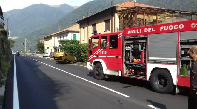 auto ribaltata laglio regina soccorsi dei pompieri