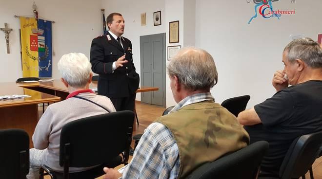 carabinieri pognana contro le truffe agli anziani, conferenza contro truffe
