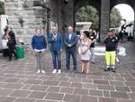 inaugurazione sant'abbondio in centro como con sindaco ed assessore rossotti