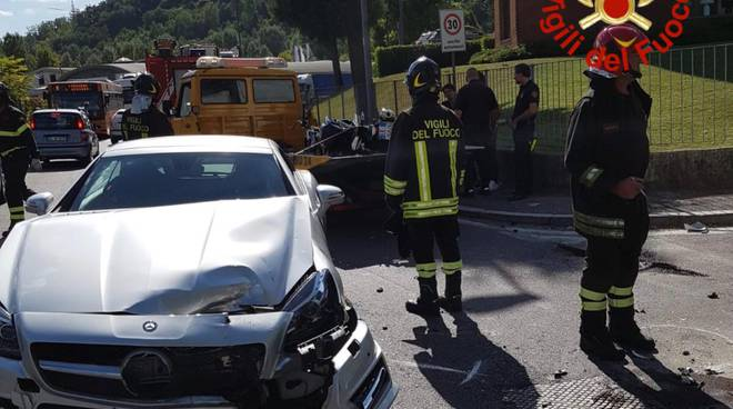 incidente a camerlata, auto contro moto