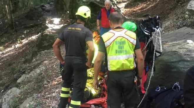 pensionata soccorsa da pompieri terz'alpe di canzo