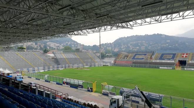 stadio sinigaglia como nuovo manto erboso per debutto campionato