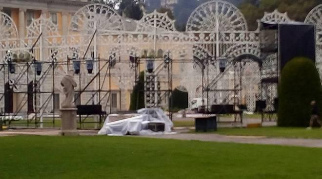 Villa olmo ricevimento indiano pronta la struttura per la festa
