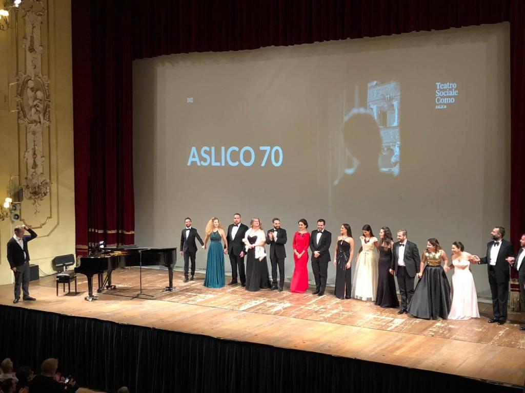 i 70 anni di Aslico, festa al Teatro Sociale di Como