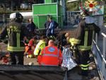 incidente lavoro forno di acsm-agam camerlata operazioni di soccorso pompieri e 118