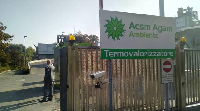 infortunio operaio forno di incenerimento acsm agam di via scalabrini