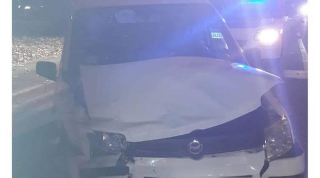scontro fra tir ed auto a  trecallo questa sera immagini soccorsi