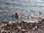 turista tedesca si tuffa nel lago per fare bagno il 14 ottobre via per cernobbio