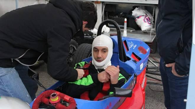 andrea bollini formula x italian series su auto a circuito varano
