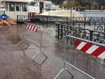 Il lungolago di Como oggi: una corsia in meno per rischio esondazione