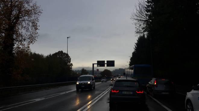 traffico lazzago per incidente in autostrada
