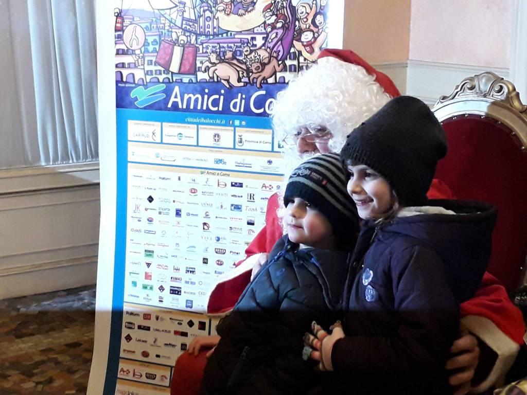 L'arrivo di Babbo Natale al Sociale di Como: che festa!!