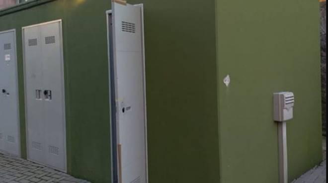 vandali di notte cabina elettrica piazza tricolore albate