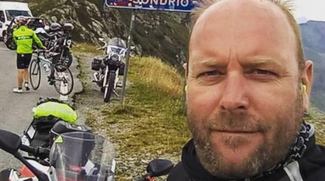 cesare sarno morto con la moto, caduta a cagno foto varesenews
