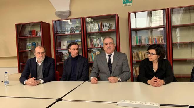 Como presentazione iniziative per girto d'italia sindaco ed assessori rossotti e galli