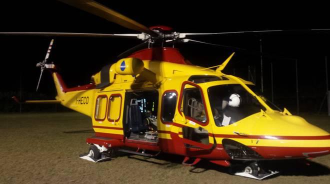 elicottero 118 como per interventi generici in orario serale