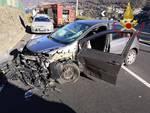 incidente laglio regina schianto auto e furgone