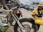jacopo cerutti abbandona la dakar 2019 per una brutta caduta sue foto e della moto