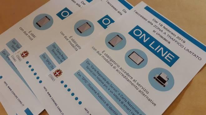 permessi per la ztl di como presentazione servizio online con comandante vigili