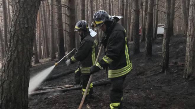 pompieri di nuovo in azione zona sorico per incendio del bosco