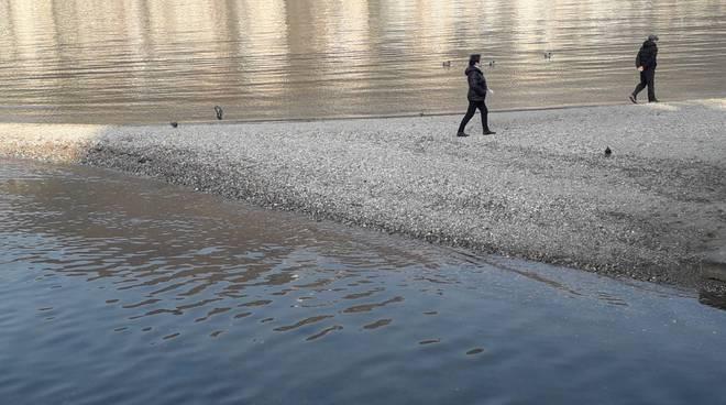 livello del lago di como sempre più basso oggi, -20 centimetri sullop zero