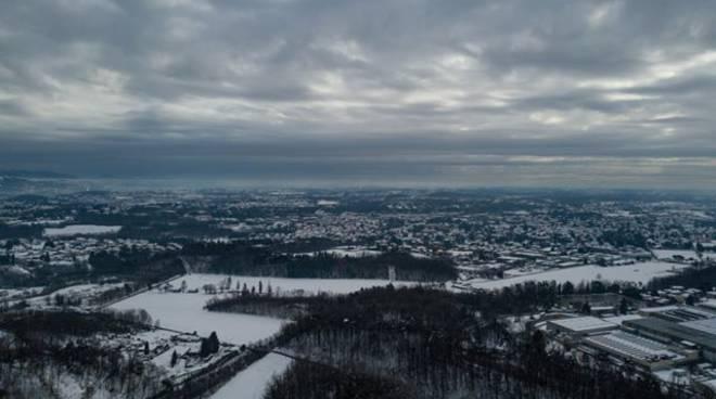 Lo spettacolo di Olgiate bianca vista con il drone