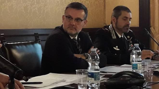 nicola molteni oggi a como in prefettura incontro con prefetto questore carabinieri e finanza