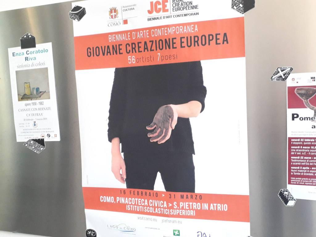 presentazione mostra giovane creazione europea pinacoteca como