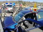 incoidente auto grandate statale dei giovi