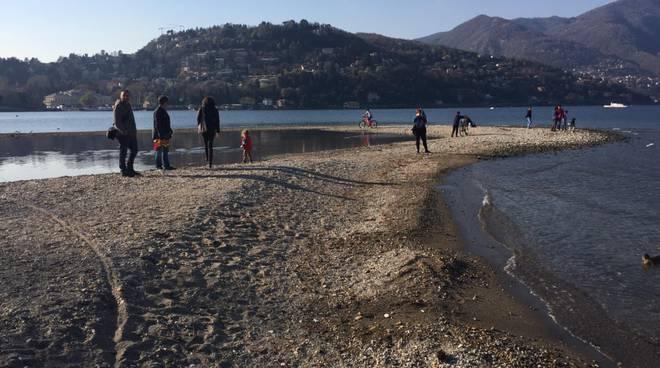 La grande siccità del Lario: il lago sempre in discesa