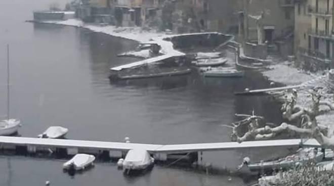 nevicata marzo 2018 sul lago di como, immagini meteocomo
