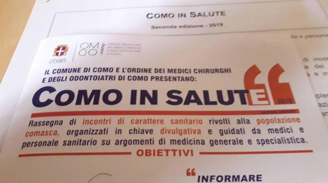 presentazione edizione numero due di como in salute comune di como medici e assessore