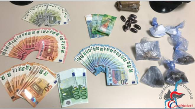 spaccio droga a concagno bosco i carabinieri recuperano la droga
