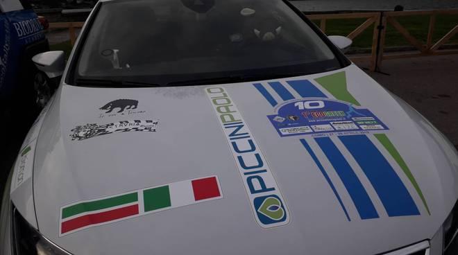 auto del rally ecogreen di como parco chiuso giardini a lago